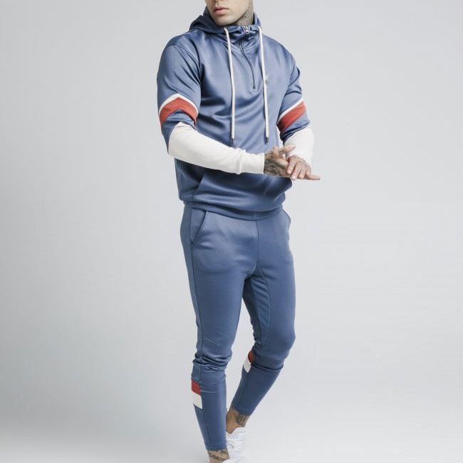 Wholesale Men Slim Fit Track Suit Printing Long Sleeve Tracksuit jogging sweat suit jumping suit set polyester material