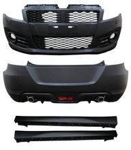 AUTO CAR TUNING BODY KIT 2012 SPORT TYPE FRONT BUMPER+REAR BUMPER+SIDE SKIRT FOR SUZUKI SWIFT CAR BODY SPARE PARTS