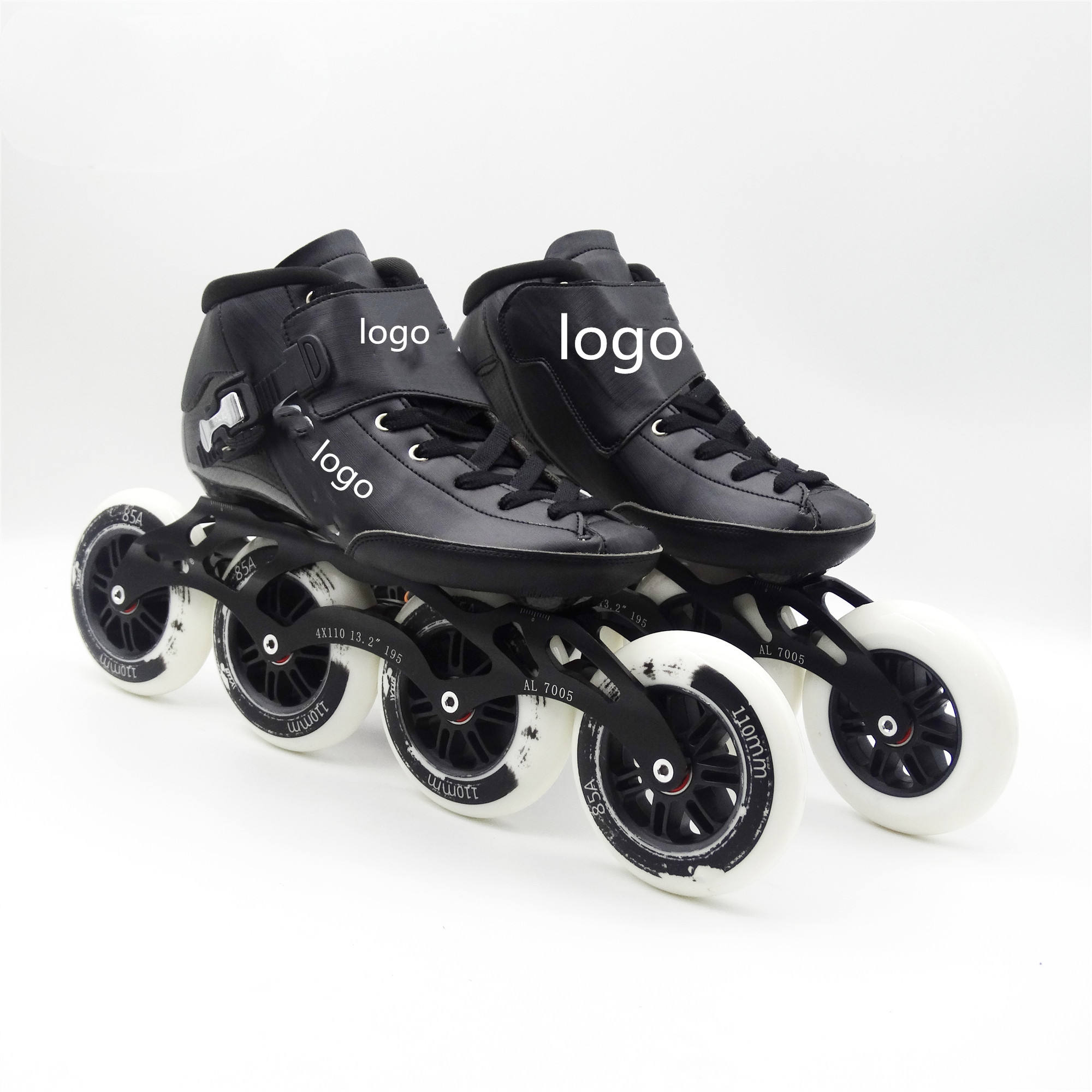 Brand Skataing Shoes pu Wheels 100/110/125ミリメートルCarbon Fiber Speed Roller Skates Inline Professional