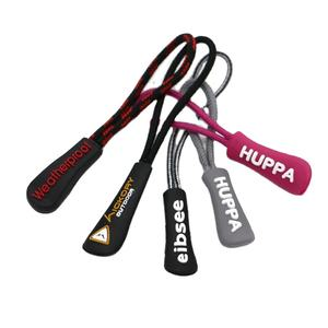High Quality Custom Logo Fancy Brand Plastic Rubber PVC Bag Zipper Puller Rubber Silicone Zip Puller / slider for Bags