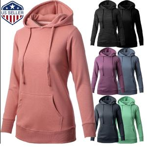Women's Premium French Terry Pullover Hoodie Cotton Blended Hooded Sweatshirts