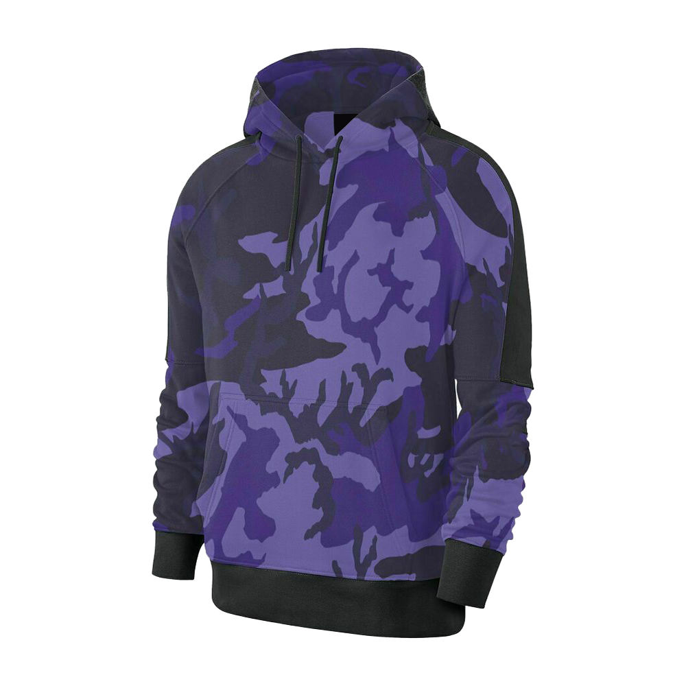 Latest Arrival Men Camo Hoodies Sublimated Fitness Strapped Hood For Sale
