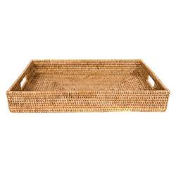 Rectangle rattan serving tray
