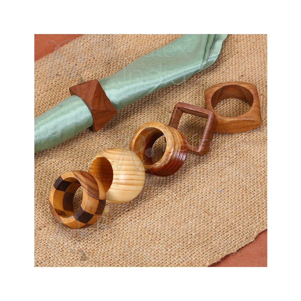 Different Shape Wooden Napkin Ring