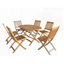 Cheap Price Dining Set Table size 130x80x72 cm Wood Type Acacia And Warranty 12 Months