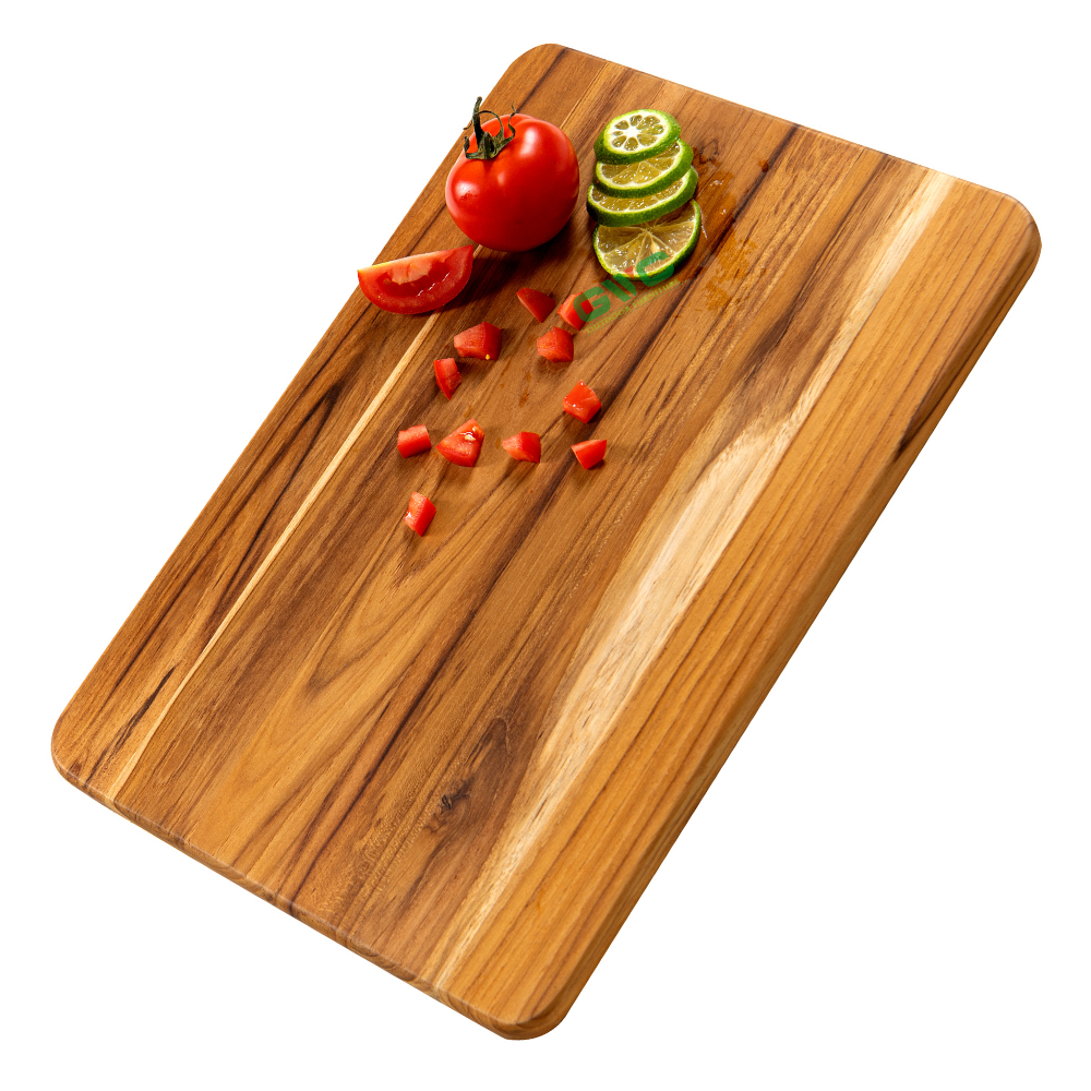 Single Light Teak Cutting Board - Best Board For Pretty Kitchen