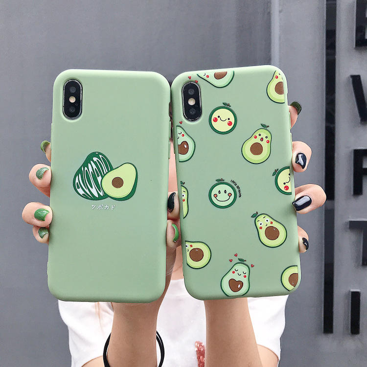 Brisk light green printed avocado phone case for iphone TPU back cover casing for cell phone
