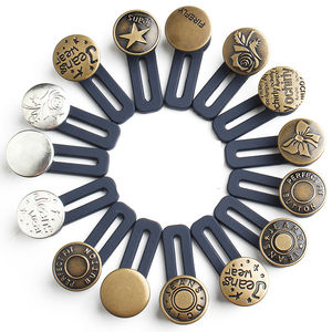 New products multiple colors quality classical brass elastic jeans extend buttons extender
