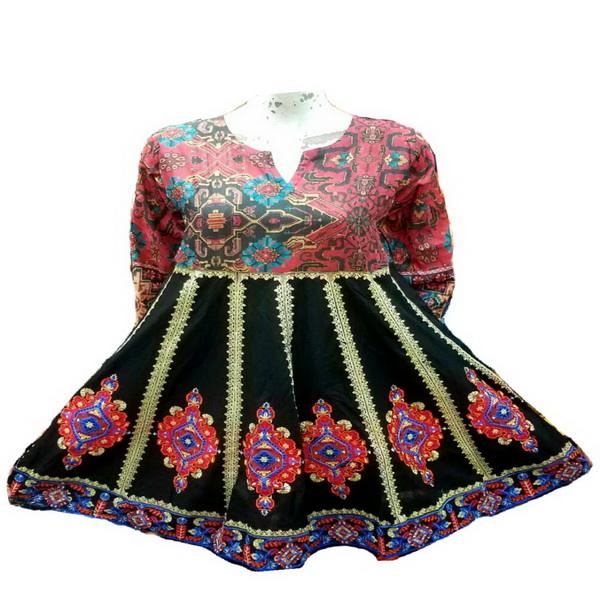 Stylish Anarkali Frock Style Embroidered Kurtis (101) / embroidered kurtis / kurti women