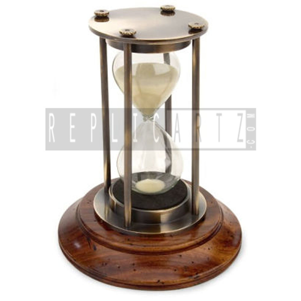 Brass Hourglass Sand Timer Bronze Finish Nautical Marine Sandglass