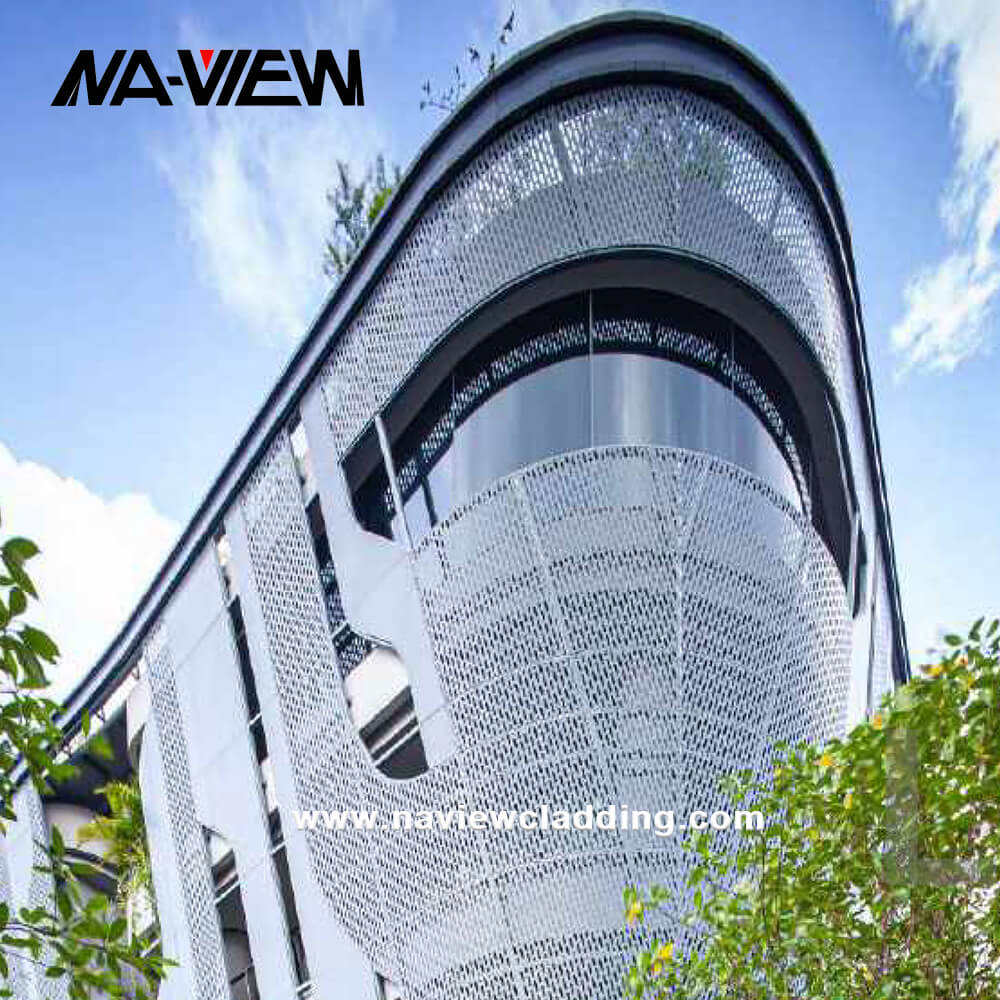 Exterior Wall Panels Metal Facade Cladding with Laser Cut Screen