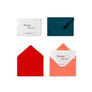 Wholesale China Factory Luxury OEM Custom Envelop Small Business Greeting Thank you Card with Logo