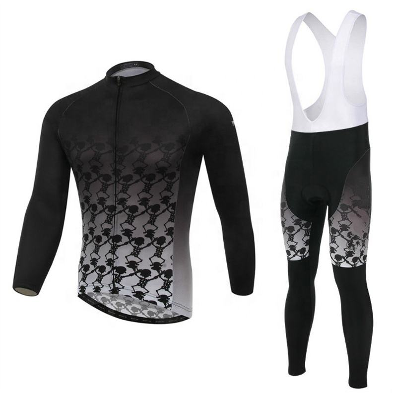 High Quality Custom Sublimated Long Sleeve Cycling Jersey Bicycle Clothing Cycling Wear Sets