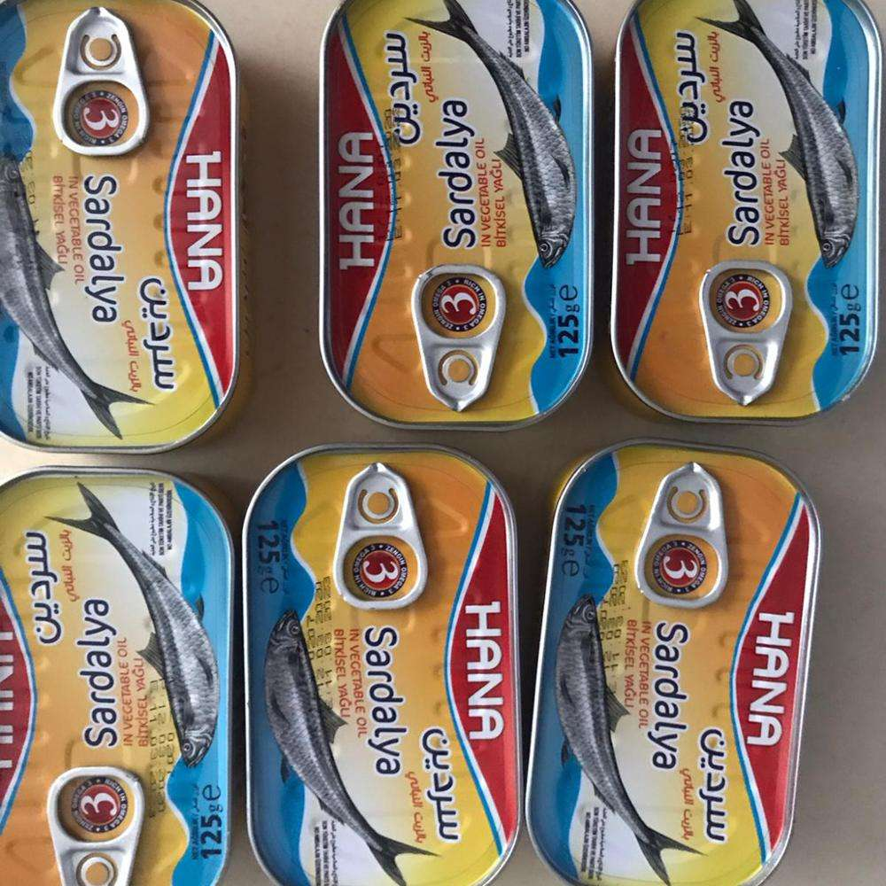 125g Morocco Style Canned Sardine in Vegetable Oil