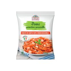 Made in Italy ready meal frozen tomato and mozzarella pennette