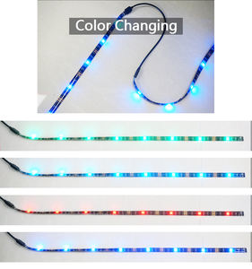 China new fashion Led light strip wholesale RGB black PCB PU covered colorful led tv strips backlight