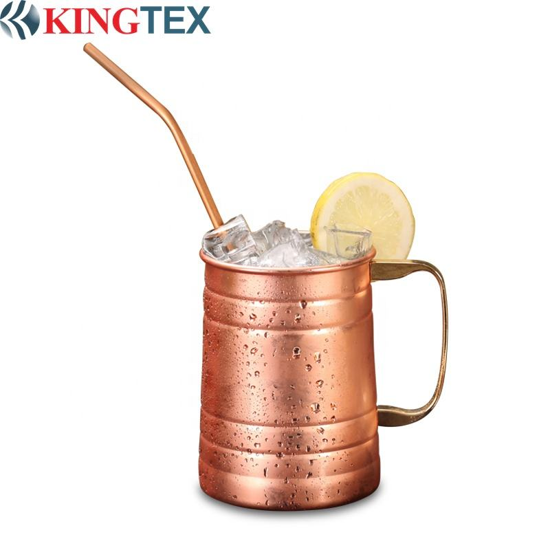 Custom Made 580ML Antique Beer Copper Plated Decorated Drinking Mug
