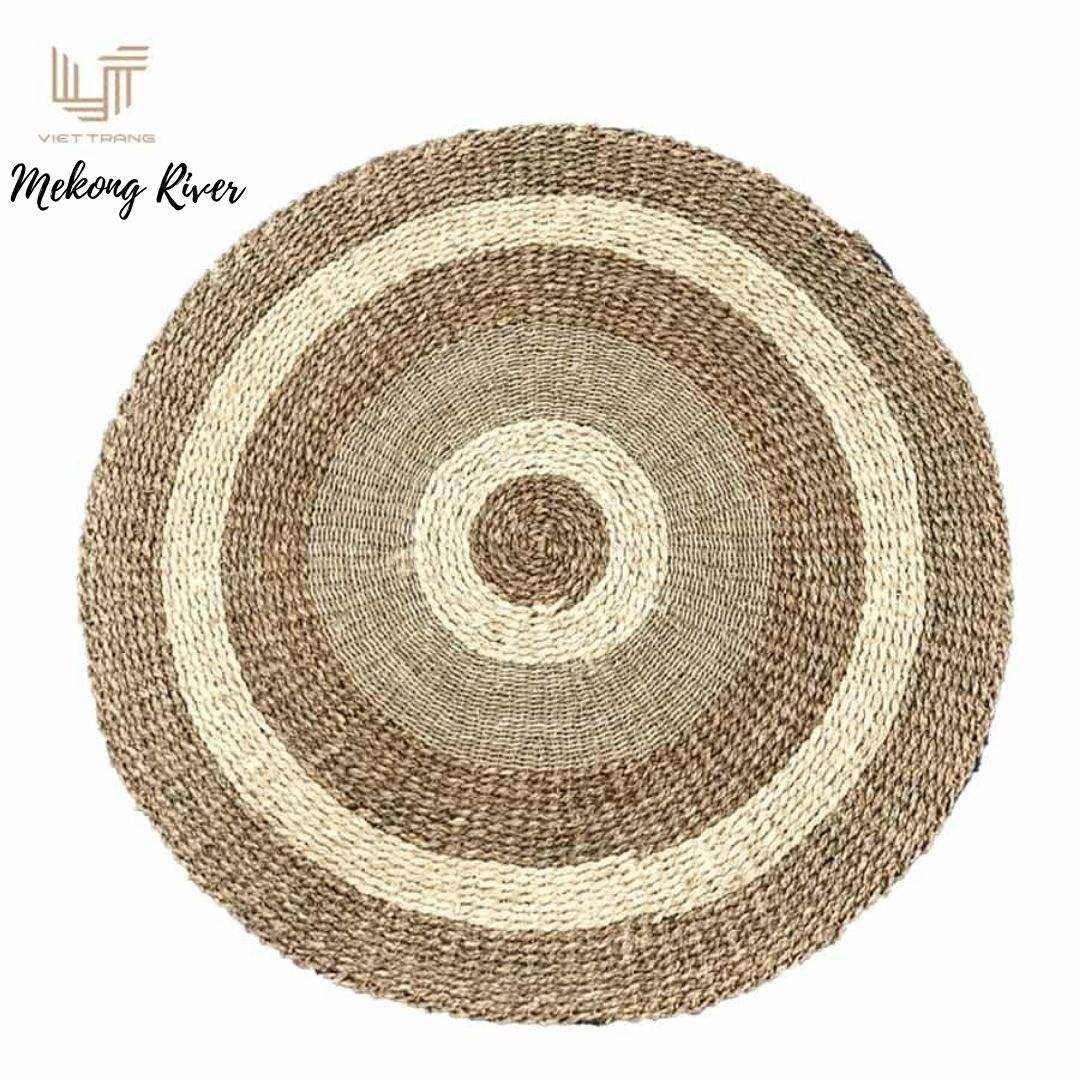 2021 decorated items natural doormats from Vietnam seagrass woven rugs carpets