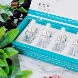 3% EGF Skin Renewal Regeneration Serum Ampoule Peptide, Collagen, Aloe Vera, Botanical Anti-Aging Brightening DM Cell Korea