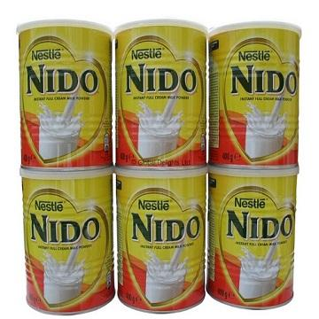 Nido Milk powder Red cap and White cap available.