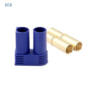 Factory manufacture high power connector 80A, DC500V EC8 Bullet Connector Male Female Plugs Adapters For RC Battery