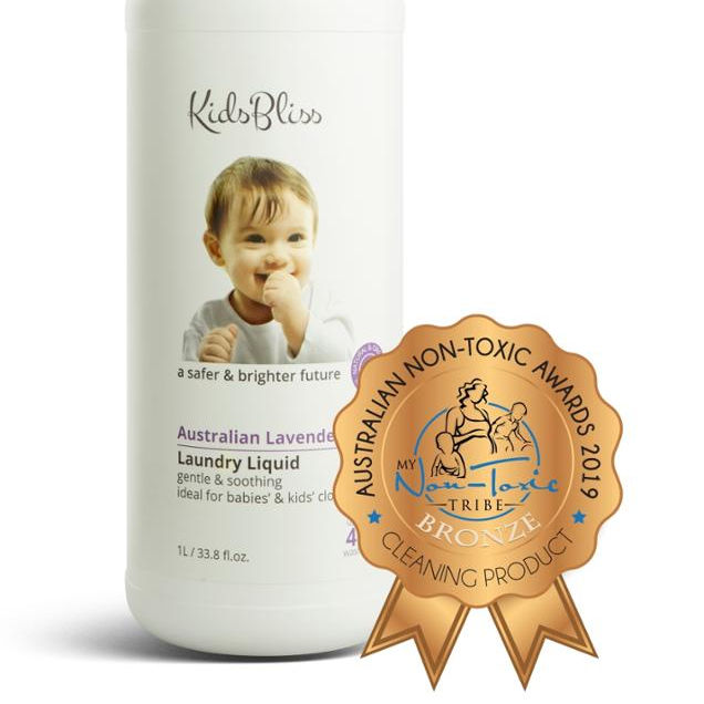 KidsBliss - Laundry Liquid - Australian Lavender - Baby Use - Australian Made - Chemical Free - 1000ml - Pure Natural