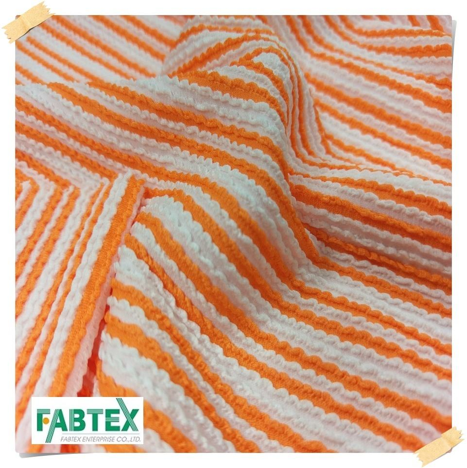 Swimwear Ribbed Fabric Stretch Stripe Knitted Fabric Ottoman Hot Sale DOTL-2029