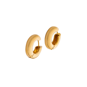 23K Gold Plated Polished In 925 Silver Snap Earrings Handmade Product Elegant Fine Design Italian Jewellery Made In Italy