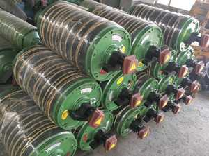 Rubber pulley for conveyor