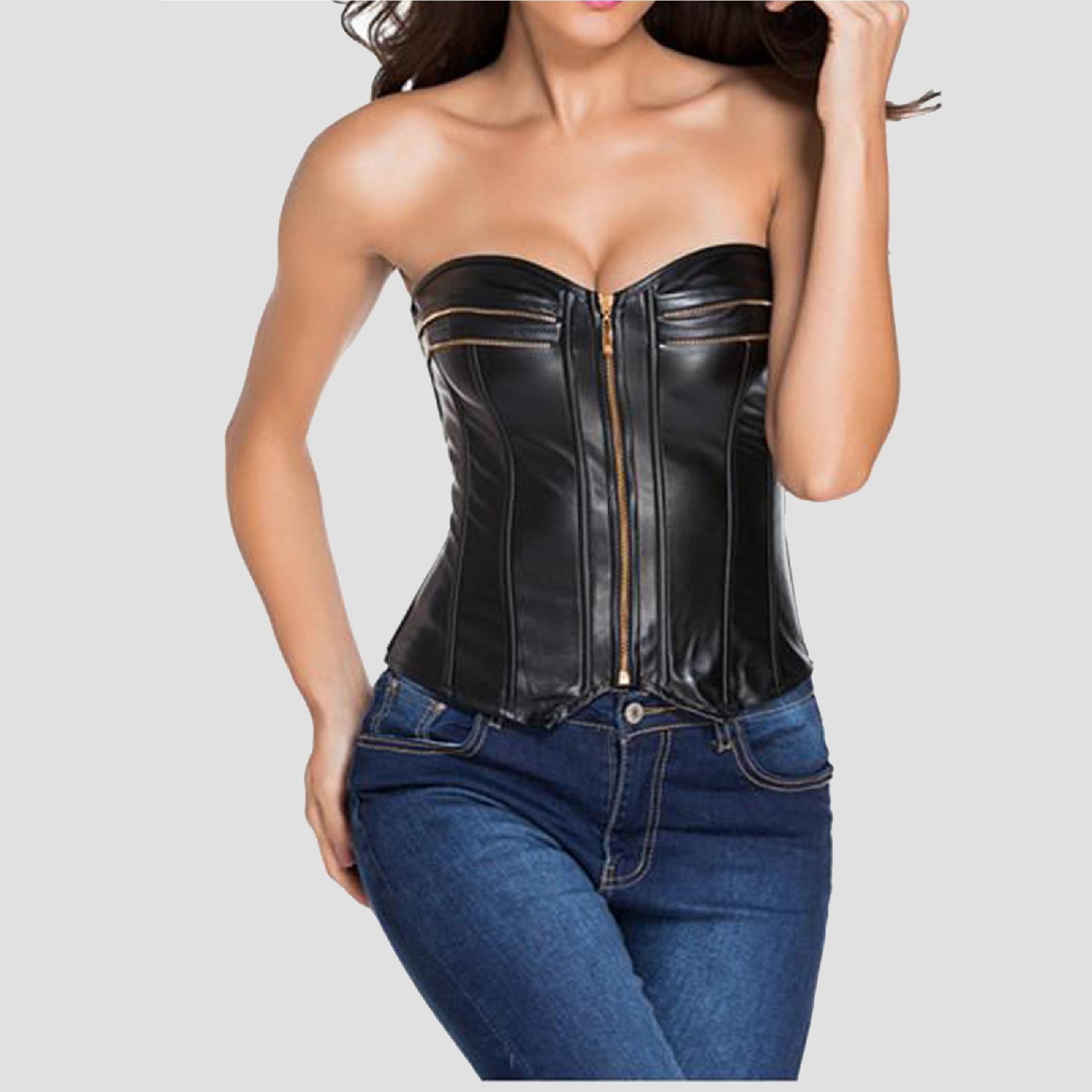 EShine CO Womens Satin Underbust Lace up Back Corset Top