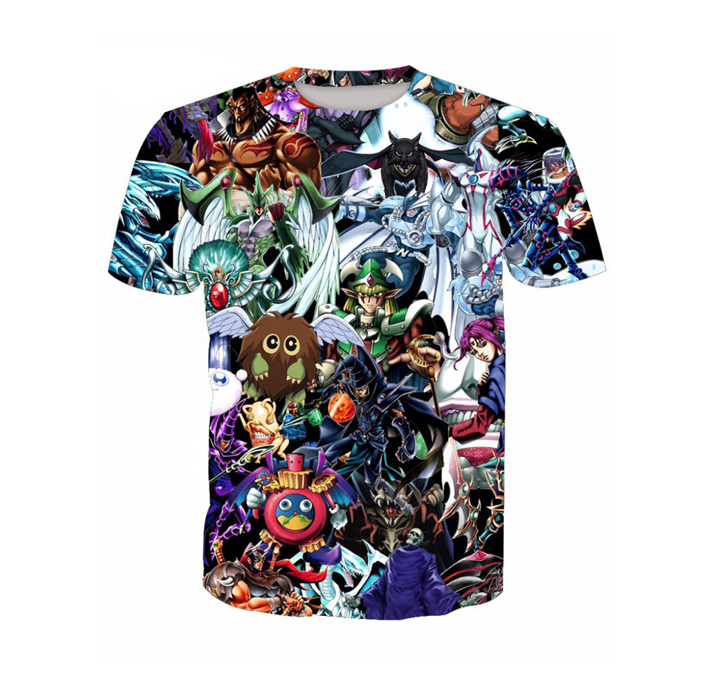 Latest Fashion Casual Wear Printed T-Shirts 3D Graphics Cartoon Style Printed Men's Shirts