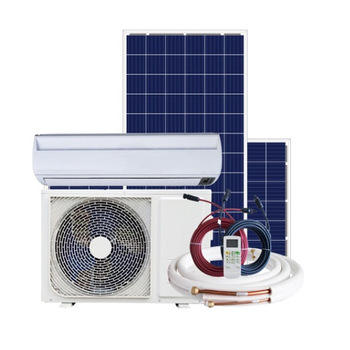 Best DC AC solar hybrid air conditioner system, solar power + electricity dual power air conditioner for home View larger image