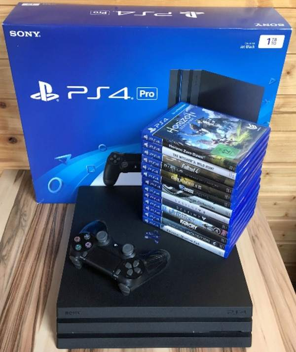 INSTANT BUY 2 GET 1 FREE !! NEW PS4 PRO 1TB 2TB SLIM 4TB Console, 15 Games, 2 Controller & VR