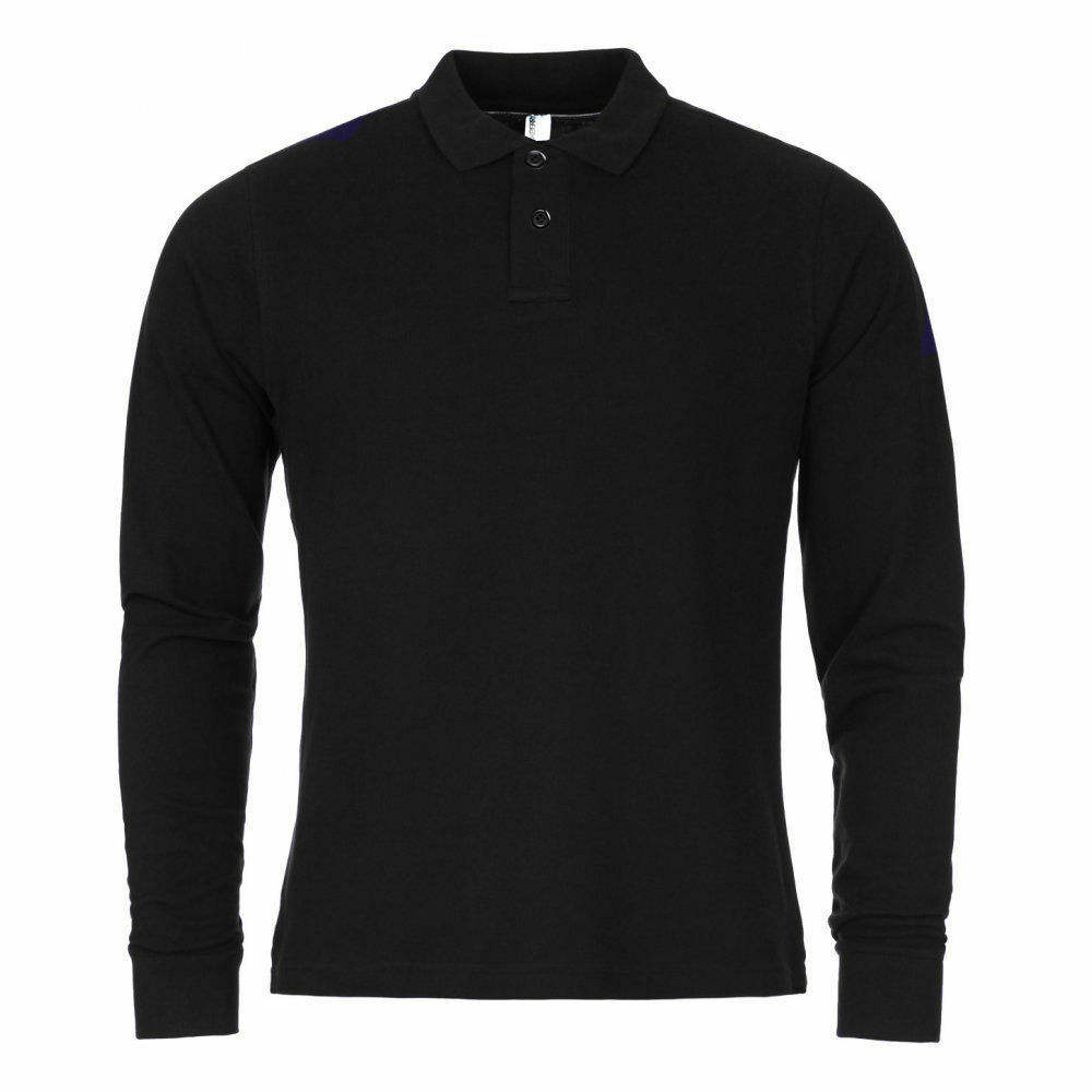 Mens Full Sleeve Polo Shirt T-shirt Top Fashion Cotton Work Wear S M L XL 2XL