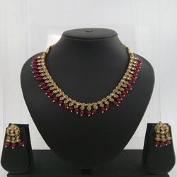 Mehandi Plated Necklace Set