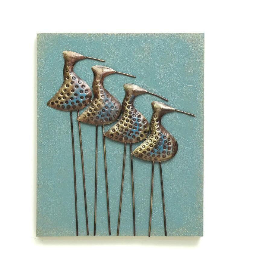 Beautiful Decorative Flamingo Bird Frame Metal Wall Art For Home Decor