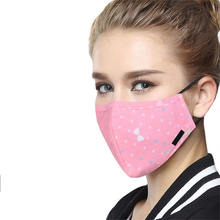Protective Face Anti-Dust Flu Mouth Activated Carbon filter Washable Cover