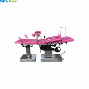 BR-DB30 Guangzhou Multi-function manual hydraulic obstetric table Hospital for Pregnant woman gyncology obstetric delivery bed