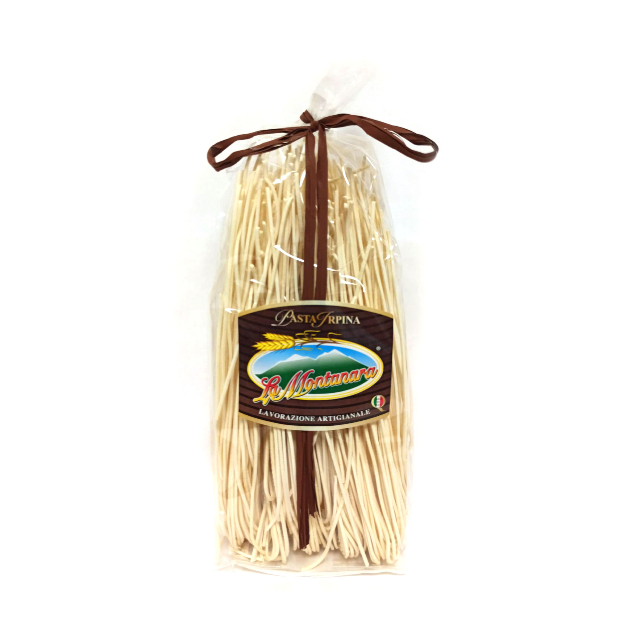 ARTISANAL DRY PASTA MADE IN ITALY - HOME MADE WITH ITALIAN DURUM WHEAT 100% - SPAGHETTI ALLA CHITARRA in Bag of 0,5 KG. - Box w