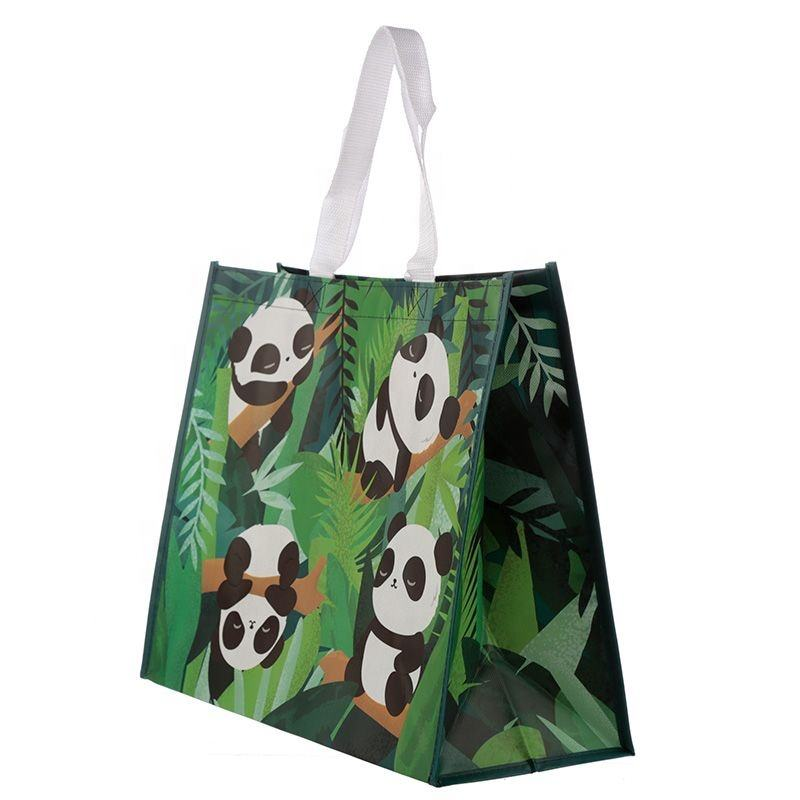 Eco-Friendly Customized matt laminated Handled Recycled reusable RPET Shopping Bag Non woven PET bag