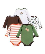 Bamboo Baby clothes Moose Deer Long-Sleeve Bodysuit Set - Newborn & Infant Cotton Romper
