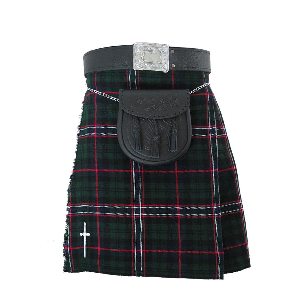 Irish National Traditional Scottish Tartan Men's Kilt