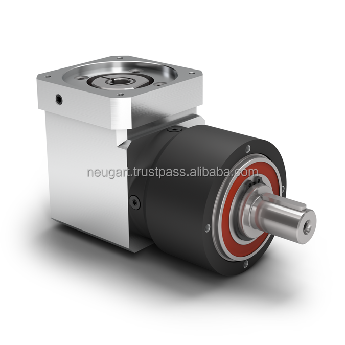 Economy Right Angle Planetary Gearbox with Output Shaft - Bevel gear right angle stage - Torsional backlash 11-25 arcmin