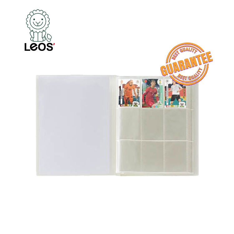 Plastic Cover Trading Card Binder 9 Pocket Card Holder