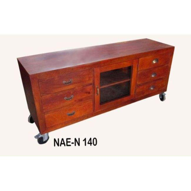 INDUSTRIAL & VINTAGE LIVING ROOM FURNITURE WOODEN T.V ENTERTAINMENT UNIT