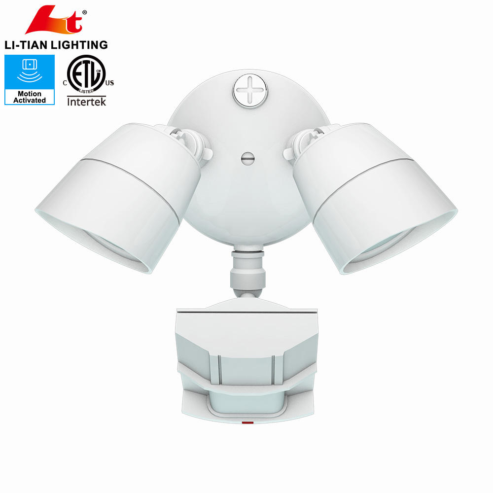 Outdoor Garden Flood Motion Sensor Security Night Light With Adjustable Head
