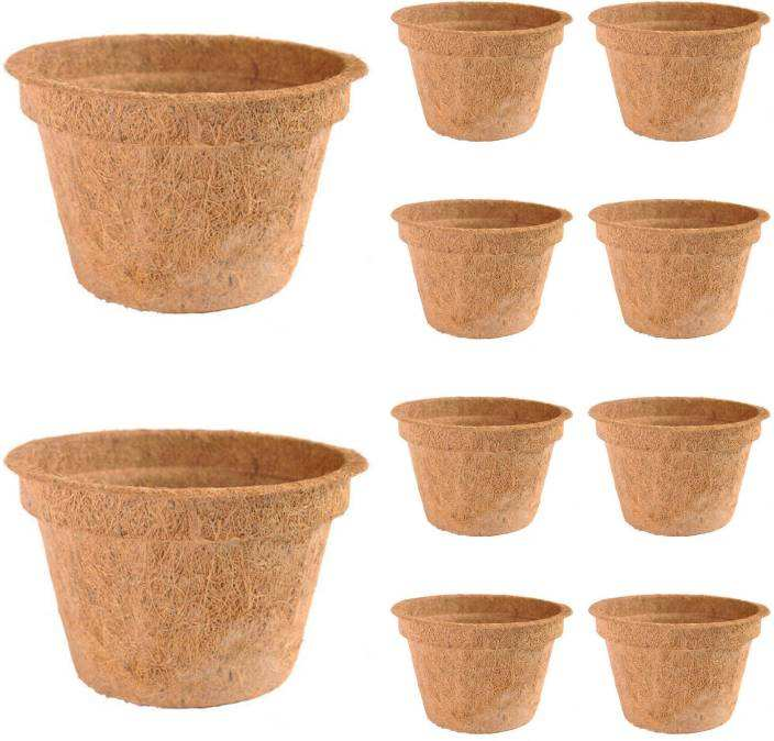 Vietnam Coconut Coir Garden Pots Organic Materials from Coconut Fiber/ Home garden plant pots from Coconut Fiber