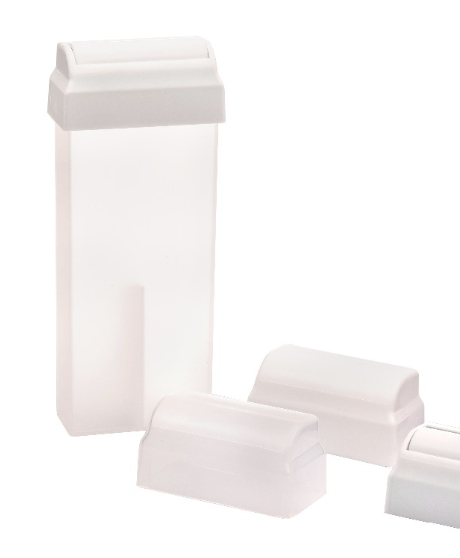 Empty roll-on cartridge PP plastic bottle and abs roller head for refilling depilatory wax 100ml