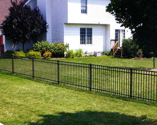 Decorative black short wrought iron fence, farm steel barrier