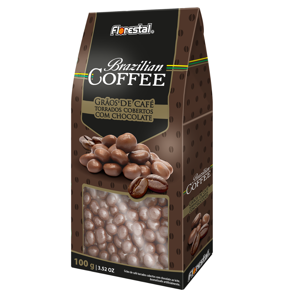 C1032 - BRAZILIAN COFFEE Chocolate Dipped 1,3g x 75un x 18 displays (100g)